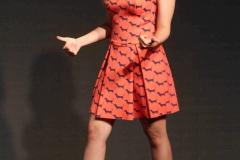 Alia Bhatt Hot Leg Show Photos In Orange Dress (2)