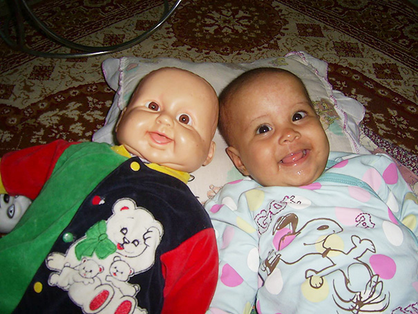 Babies Who Look Just Like Their Toy Dolls