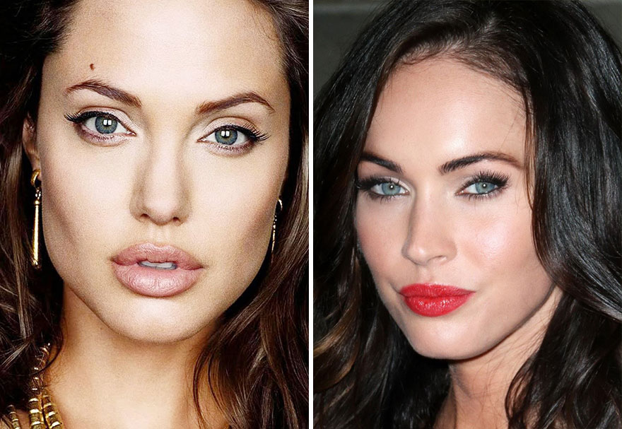 Artist Creates Perfect Faces By Combining Photos Of Different Celebrities