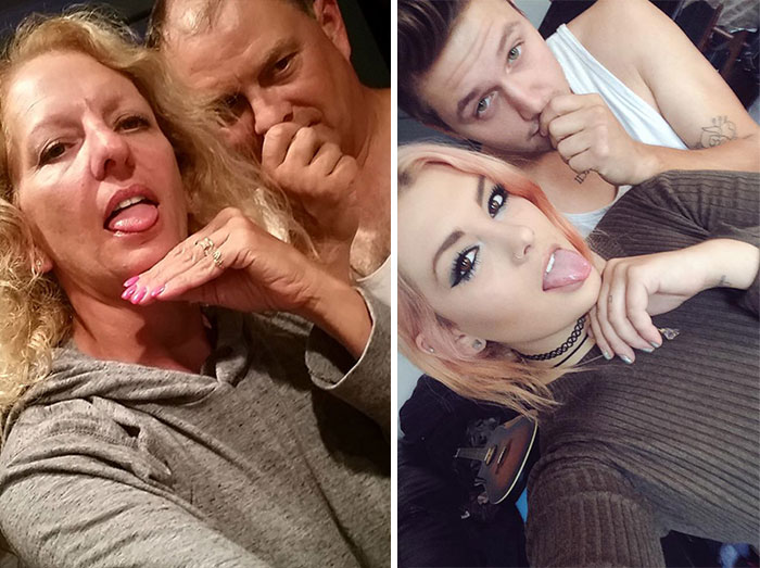 Parents Troll Daughter And Boyfriend By Recreating Their Facebook Selfies