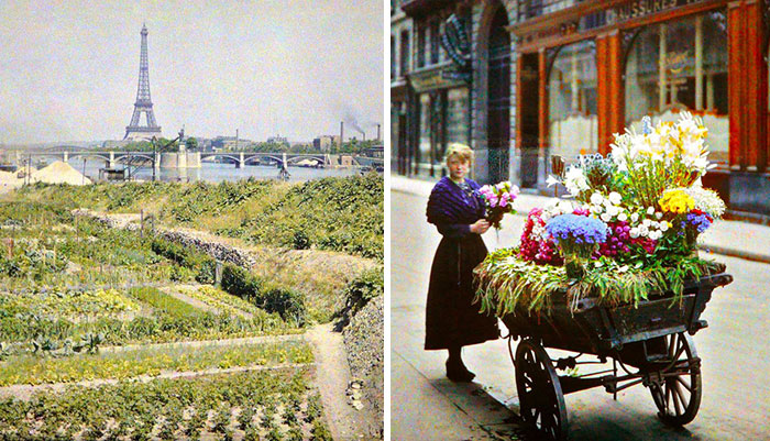 Rare Color Photos Of Paris Taken 100 Years Ago
