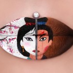 Artist Turns Her Lips Into Works Of Art