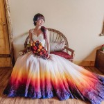Dip Dye Wedding Dress Trend Will Make Your Big Day More Colorful