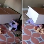 2-Year-Old Rescues His Twin Brother From Under A Fallen Dresser (After Doing Something Ridiculous)
